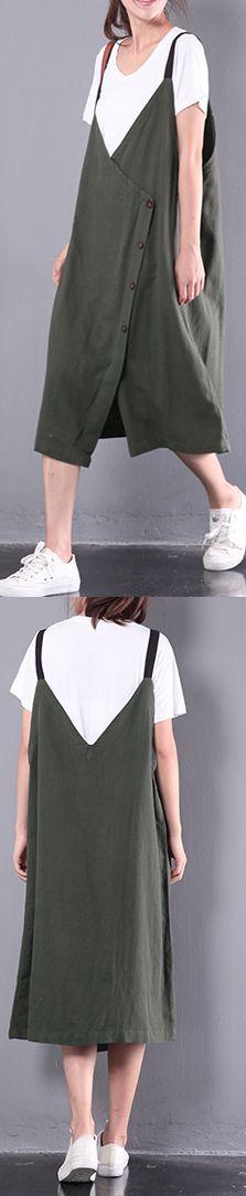 casual linen dresses plus size sleeveless dress
