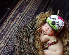 Crochet Owl Hat Toddler/Newborn by The5Princesses on Etsy, $16.99