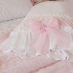 ruffle bedding | Frances Lace Duvet Cover Set