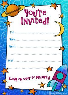 Free Printable Boys Birthday Party Invitations