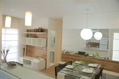 Sala de Jantar Pequena com Espelho | Decoração Você de Olho em Tudo