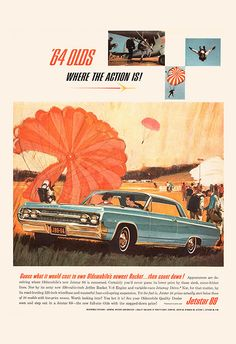 VINTAGE CAR Ad - Retro Car Ad - MERCURY Classic Car Ad Mid-Century Poster Garage…