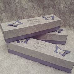 Special wedding invitations in cute boxes.   #solodecor #solodecormd #weddingdays #wedding #weddingaccessoriesideas #weddingart #weddingstyle #wedding #weddinginvitation #invitation #invitatie #vintageprint #vintage #mywork #hobby #purple #purpleinvitations #purplewedding #invitations #weddingaccessories #paperhandmade #paperideas #butterfly #butterflystyle Wedding Art, Purple Wedding, Wedding Styles, Purple Invitations, Wedding Invitations, Cute Box, Vintage Prints, Wedding Accessories, Boxes