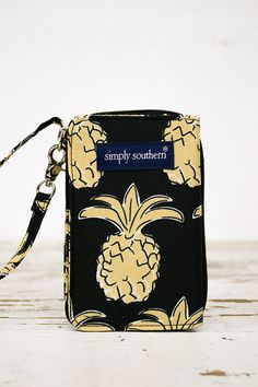The LuLu Pineapple Wallet by Simply Southern is perfect! It can hold, not only money and cards, but also your phone. Perfect fit for I phone 6. Has a coin zippered pockets and 3 card pockets. A pocket
