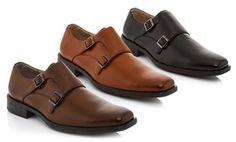 Groupon - Franco Vanucci Medicci Men's Monk Strap Dress Shoes in [missing {{location}} value]. Groupon deal price: $34.99