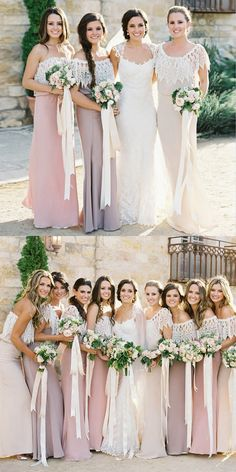 boho strapless chiffon bridesmaid dresses, bridesmaid dresses for fall wedding, sheath long bridesmaid dresses with lace
