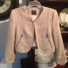 Jacket Cream tweed jacket in excellent condition, note not juicy couture Juicy Couture Jackets & Coats Blazers
