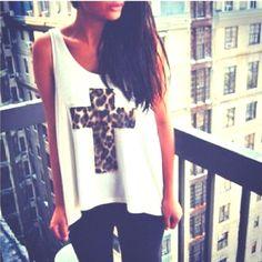 Cheetah Cross Shirt