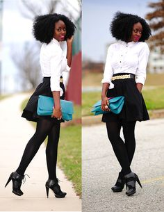 Black and White (by Skinny Hipster) http://lookbook.nu/look/2999265-Black-and-White