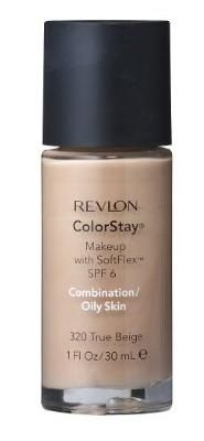 Excellent, full-coverage foundation--Revlon Colorstay ($13).  Very, very similar to Smashbox foundation ($44) that I love, but use sparingly.