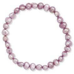 Plum Cultured Freshwater Pearl Stretch Bracelet