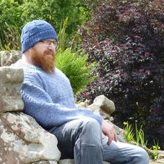 Gordon in an aran weight gansey, made of North Ronaldsay yarn which I dyed. Another for the book. Shetland Wool, Finger Weights, Real People, Instagram Feed, Stitch Patterns, Winter Hats, Book, Lace, Books