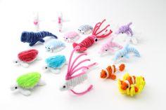 Pipe cleaner sea creature