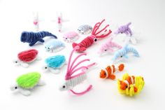 Pipe cleaner sea creature.Pipe cleaner artist,Atsushi Kitanaka.