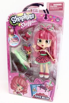 Pippa Melon 6 Watermelon Doll Shopkins Shoppies Shopville Girls Day Out Shoppies Dolls, Shopkins And Shoppies, Nike Iphone Cases, Iphone Case Covers, Toys For Girls, Kids Toys, Shopkins Game, Doll Games, Toys Land