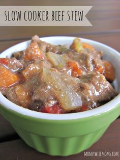 Slow Cooker Beef Stew | A simple recipe for beginner cooks to make a hearty crockpot meal
