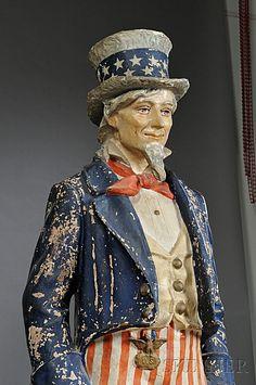 Papier-mache Uncle Sam Figure