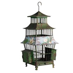 Nordal Oriental Floral Bird Cage, Idea Home Co