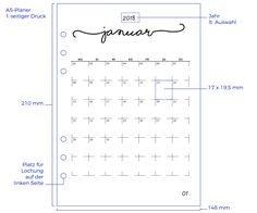 Kalendereinlagen 1 Monat/1 Seite: KÜSTE   knopfkatz