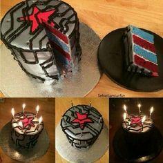 Captain America: The Winter Soldier birthday cake.