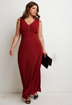 Plus Size Strappy Maxi Dress