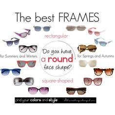 The best frames for round face shape by thirtysomethingurbangirl on Polyvore featuring Burberry, Jimmy Choo, The Row, Ted Baker, Robert La Roche, Tory Burch, Linda Farrow, Marc by Marc Jacobs, Italia Independent and Prada
