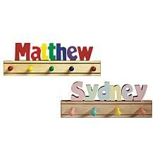 Kids coat rack nursery wall hanger personalized baby gifts custom kids puzzle name coat rack negle Images