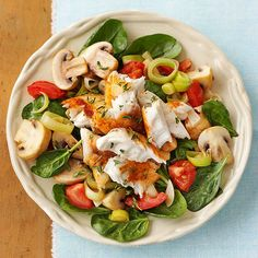 fattributes:  Wilted Spinach and Tilapia Salad