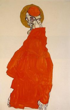 Expressionism — Standing Figure with Halo by Egon Schiele Medium:...