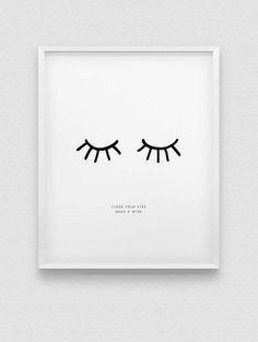 inspirational print  close your eyes make a wish by spellandtell