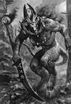 Worlds of Fantasy Dark Fantasy Art, Fantasy Rpg, Fantasy Artwork, Dark Art, Demon Artwork, Monster Art, Monster Concept Art, Arte Horror, Monsters