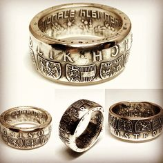 Austria Coin Ring - Austrian Men's Silver Ring from 50 Shilling 1974 - Rings from Coins - Österreich - Österreichisch Ring der Münze by CoinRingsStudio on Etsy