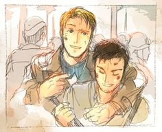 Brilliant drawing! Wish there was more pictures of them together during the war!