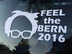 "Feel The Bern 2016 Bernie Sanders 6"" White Car Truck Vinyl Decal Art Wall Sticker USA Candidates President Vote Polls Campaign White House Awesome Democrat Funny Vinyl Creations http://www.amazon.com/dp/B017SER0QM/ref=cm_sw_r_pi_dp_EjN5wb1SB04BY"