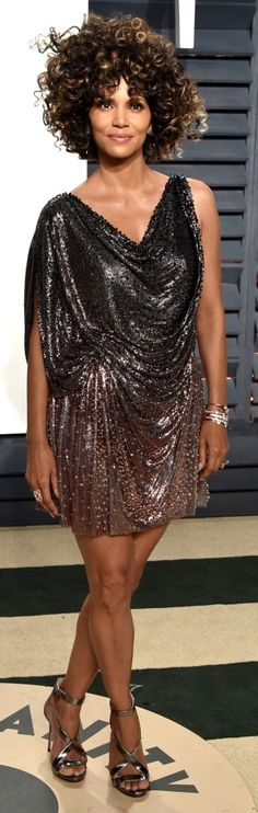102 Awesome Oscars Weekend Outfits You Didn't See - but Can't Miss - Halle Berry in Versace