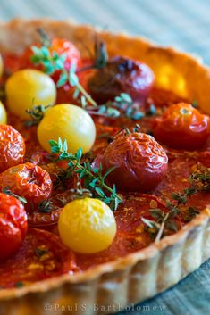 Heirloom Tomato Tart - a great way to serve lots of fresh tomatoes at once.