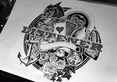 'Wooden Heart' - EP Cover by Greg Coulton, via Behance