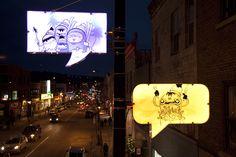 Speech-Bubble Street Lights Of Montreal's Mount Royal Avenue