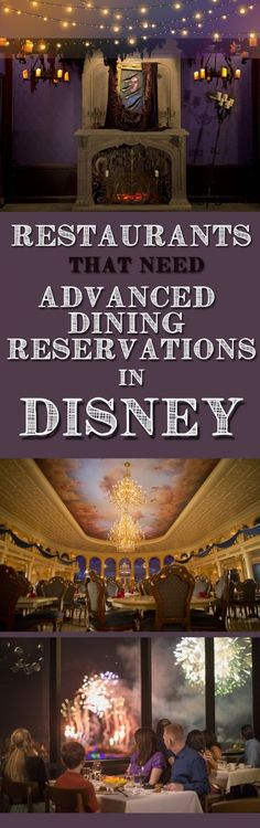 Restaurants that need Advanced Dining Reservations (ADR's) in Disney World. Recommendations for the most popular restaurants in Walt Disney World, Orlando, Florida. These Disney restaurants need booking as soon as possible. Disney Dining Plan tips and tricks, hints and hacks. Best planning tips for your Disney vacation.