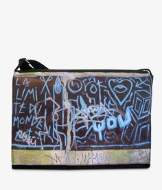 Apfelsina Schoulder Bag Mean You. This handmade Bag shows a street art painting in Berlin.  Now available at our online store. http://www.apfelsina.de