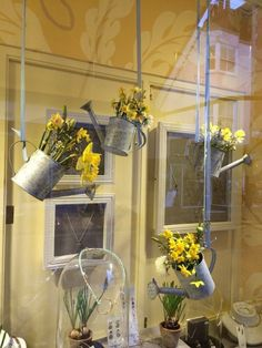Floral display ideas and inspiration, floral store front window, creative retail display, creative floral display, visual merchandising. window ideas 17 Fun Ideas To Celebrate Spring With Flower Decor - HomelySmart