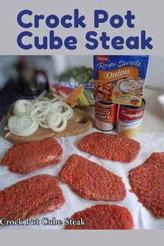 Recipe Using Mushroom Soup, Recipe With Cream Of Celery Soup, Cream Of Onion Soup, Recipe Without Onion, Lipton Onion Soup Recipes, Crock Pot Soup Recipes, Crockpot Dishes, Crock Pot Cooking, Crock Pot Cube Steak
