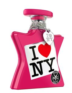 i love new york for her, bond no 9    Notes of mandarin zest, spicy nutmeg, blueberry accord, roses, pink peonies, patchouli, musk, vanilla, sandalwood and leather accord