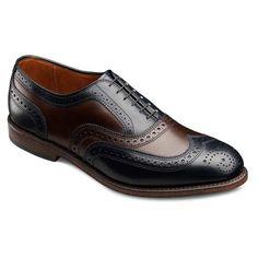 Black/Brown Broadstreet - Wingtip Lace-up Oxford Men's Dress Shoes by Allen Edmonds
