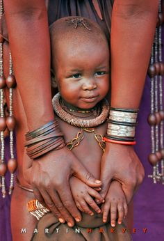 Africa |  Little Himba girl from the Kunene Region in northwestern Namibia.  | ©Martin Harvey