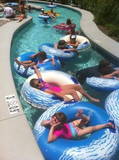 Grandkids loving the lazy river at Phoenix West.