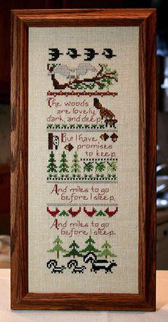 Cross Stitch Pattern Woodland Sampler / Verse by by Moosemom