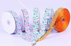 50yard 25mm Mixed Color Butterfly Satin Crafts Ribbon Cord