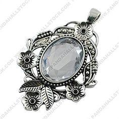 Tibetan Style Pendants with rhinestone, Lead Free & Cadmium Free & Nickel Free