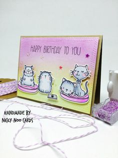 I Knead You & Cool Cat - MFT. Card by Nicky Noo Cards #nickynoocards https://www.etsy.com/shop/nickynoocards and https://www.facebook.com/nickynoocards/